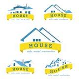 Ajuste o molde do projeto do logotipo da casa foto de stock