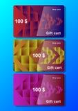 Ajuste o molde do vale-oferta com elementos abstratos poligonais e setas ilustração royalty free