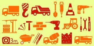 Ajuste o objeto isolado para a indústria da construção civil Fotografia de Stock Royalty Free