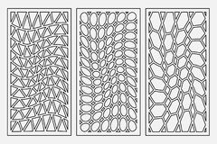 Ajuste o ornamento geométrico do teste padrão Cartão para o corte do laser Projeto decorativo do elemento Teste padrão geométrico Foto de Stock