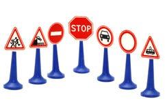 Ajuste o sinal de estrada Imagens de Stock Royalty Free