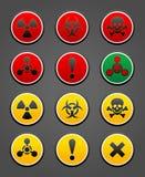 Ajuste o sinal de segurança do perigo dos símbolos Fotos de Stock