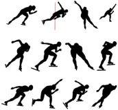 Ajuste o skater de patinagem da velocidade ilustração do vetor