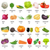 Ajuste o vegetal com calorias no branco Fotos de Stock