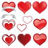 Ajuste o vermelho do coração - vetor ilustração royalty free