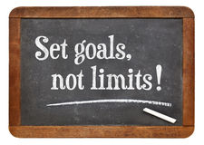 Ajuste objetivos, nenhuns limites Imagens de Stock Royalty Free