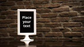 Ajuste ofrecido del menú en el tablem imagen de archivo libre de regalías