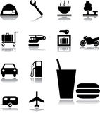 Ajuste os ícones - 131. Transporte ícones Imagens de Stock Royalty Free