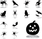 Ajuste os ícones - 78. Halloween Foto de Stock Royalty Free