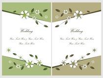 Ajuste os cartões 5 do convite do casamento Foto de Stock