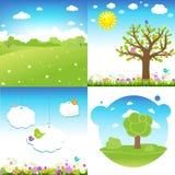 Ajuste a paisagem dos desenhos animados Foto de Stock Royalty Free