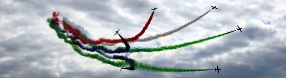 Ajuste panoramas de Airshow MAKS 2017 em Rússia imagens de stock royalty free