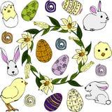 Ajuste para Easter ilustração do vetor