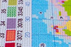 Ajuste para o bordado pelo teste padrão com dígitos foto de stock royalty free