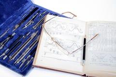 Ajuste para o desenho e o livro Foto de Stock Royalty Free