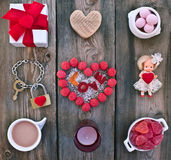 Ajuste para o dia de Valentim Fotografia de Stock