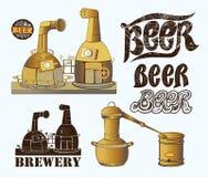 Ajuste para o projeto da cervejaria Fotos de Stock