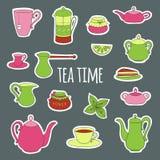 Ajuste para o tea party Foto de Stock