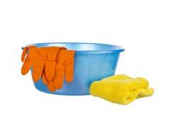 Ajuste para pratos de lavagem Imagem de Stock