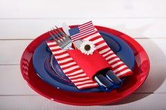 Ajuste patriótico da tabela de cores Fotografia de Stock