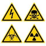 Ajuste perigos dos sinais ilustração stock