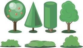 Ajuste plantas em um estilo moderno Imagem de Stock Royalty Free