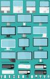 Ajuste portáteis, monitores e ratos Fotografia de Stock