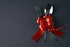 Ajuste romántico de la tabla del día de fiesta Foto de archivo