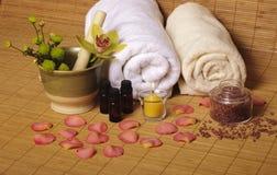 Ajuste romântico dos termas Foto de Stock Royalty Free