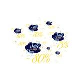 Ajuste a rotulação da cor para o sinal da oferta da venda especial Ilustração lisa Eps 10 Fotos de Stock