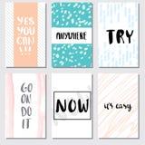 Ajuste a rotulação do cartão da motivação para o cartaz ilustração stock