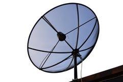 Ajuste satélite no telhado Foto de Stock