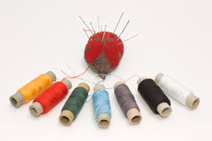 Ajuste sewing Fotografia de Stock Royalty Free
