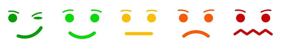 Ajuste smilies das caras da emoção, ajuste a emoção do smiley, por smilies, emoticons dos desenhos animados - vetor ilustração do vetor