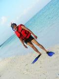 Ajuste Snorkeling Fotografia de Stock