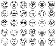 Ajuste sorrisos do círculo do vetor Foto de Stock