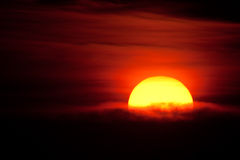 Ajuste Sun Imagens de Stock Royalty Free
