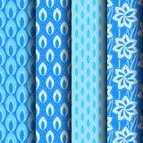 Ajuste testes padrões azuis Foto de Stock Royalty Free