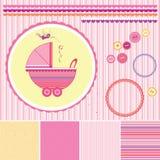 Ajuste testes padrões do bebê Ilustração do vetor Imagem de Stock