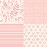 Ajuste testes padrões florais para o álbum de recortes. Imagens de Stock Royalty Free