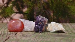 Ajuste uma coleção das rochas e dos minerais Fotos de Stock Royalty Free