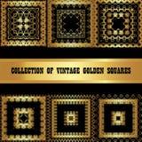 Ajuste uma coleção do quadrado dourado Imagem de Stock Royalty Free