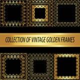 Ajuste uma coleção do quadrado dourado Imagens de Stock Royalty Free