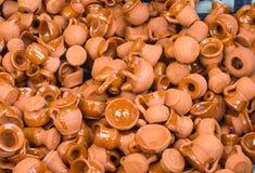Ajuste utensílios da argila Imagem de Stock Royalty Free