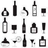 Ajuste vidros e garrafas Imagem de Stock