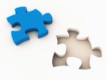 Ajustement de puzzle denteux Photo libre de droits