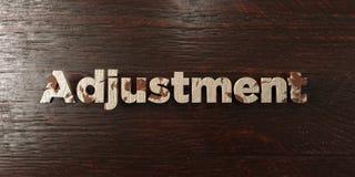 Ajustement - titre en bois sale sur l'érable - image courante gratuite de redevance rendue par 3D Photographie stock libre de droits