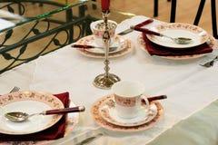 Ajustes do almoço da tabela foto de stock royalty free