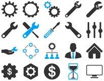 Ajustes e ícones das ferramentas Imagens de Stock Royalty Free
