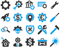 Ajustes e iconos de las herramientas Imagen de archivo libre de regalías